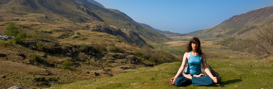 Ruth Boaler, Senior Dru Yoga & Meditation teacher training and NHS Physiotherapist near the Dru Yoga International Retreat Centre, Snowdonia, Wales