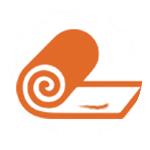 Dru Yoga mat icon, orange