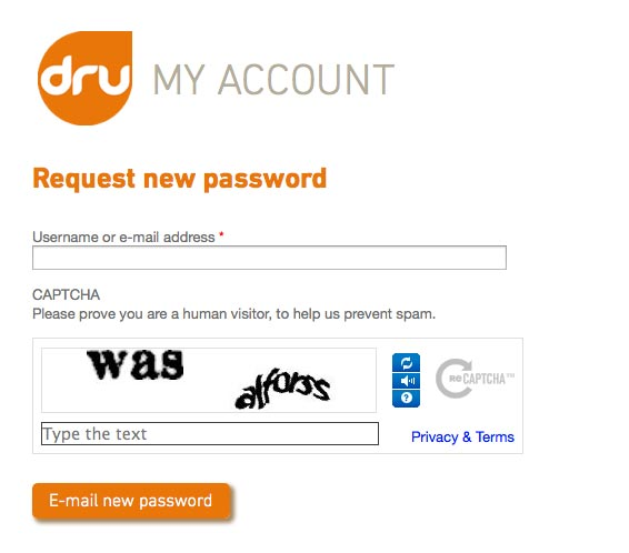 re-set password step 1