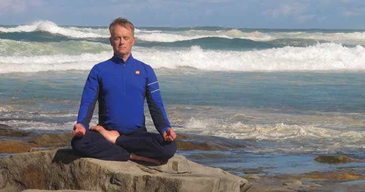 John Jones meditating