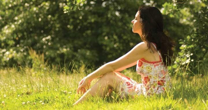 Shona meditates in the sunshine