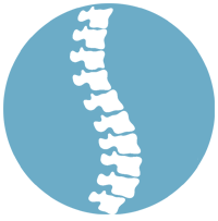 spine back care icon blue